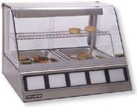 Roundup DCH-200 Heated Display Cabinet, Holds 2 Full Size Pans 2-1/2 in Deep