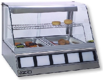 "Roundup DCH-200 Heated Display Cabinet, Holds 2 Full Size Pans 2-1/2""Deep"