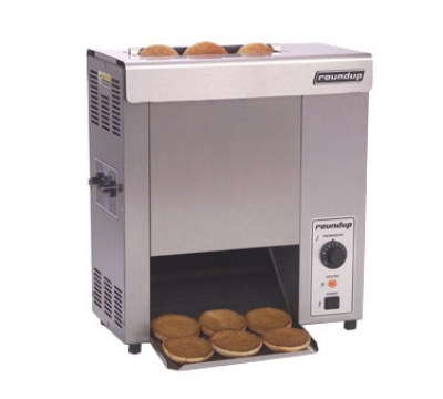 Roundup VCT-1000_9210700 Vertical Toaster w/ 10-Sec Pass-Thru Time & 2-Sided Toasting, 120v