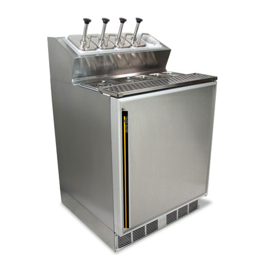"Silver King SKFSM/CUK7 27"" Ice Cream Topping Unit w/ Refrigerated Base - Stainless, 115v"