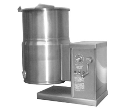 Accutemp ACECT-10 2403 Countertop Tilt Kettle w/ Crank & 10-gal Capacity, Stainless, 240/3 V