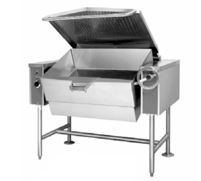 Accutemp ACGTS-30 NG Tilting Skillet w/ 30-gal Capacity & Manual Tilt, Pour Strainer, NG