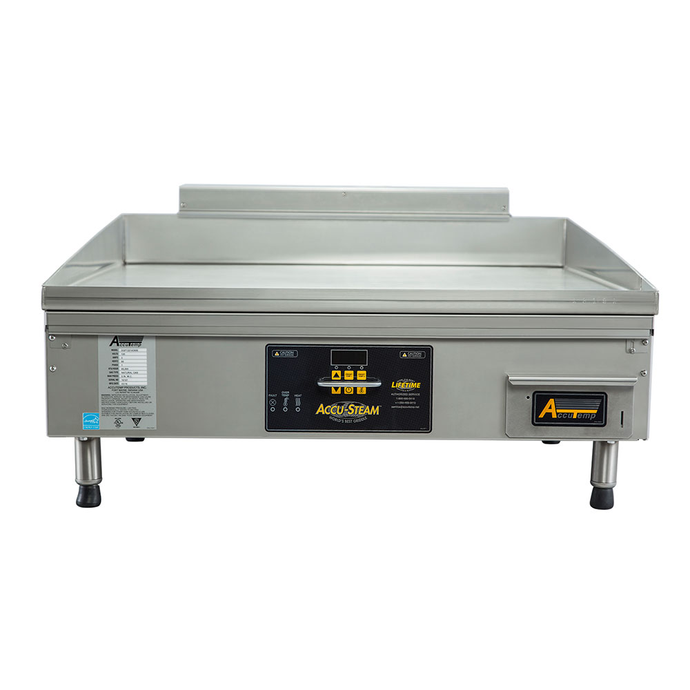 Accutemp GGF1201A2400-T1 24-in Tabletop Griddle, 677-sq in Cooking Area, Stainless, 42300-BTU, NG