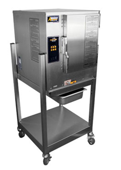 Accutemp P61201D060SGL Boilerless Convection Steamer w/ Stand & 6-Pan Capacity, 60000-BTU, LP