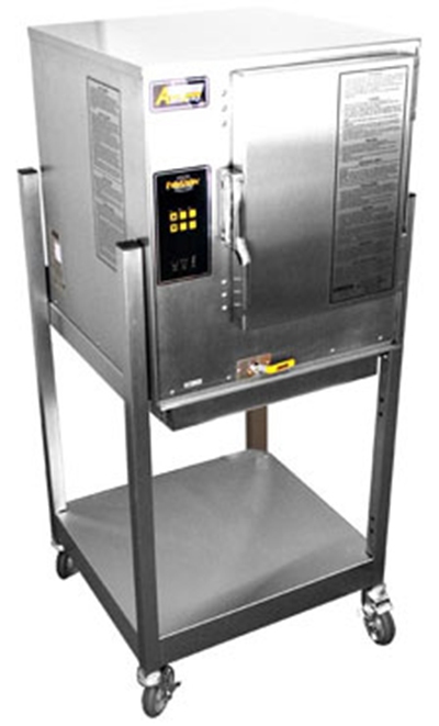 Accutemp P61201E060SGL Boilerless Convection Steamer w/Stand, Water Connection Required, 60000-BTU, LP