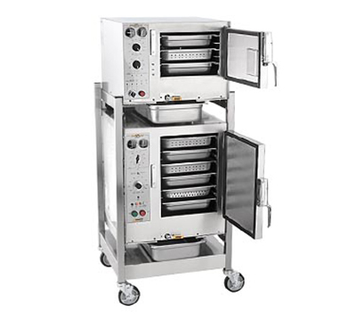 Accutemp S3/S62083D080 2-Convection Steamer w/ Stand & 9-Pan Capacity, 8kw, 208/3 V