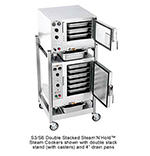 Accutemp S3/S62403D130 2-Convection Steamer w/ Stand & 9-Pan Capac