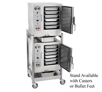 Accutemp S62081D060DBL 2-Convection Steamer w/ Stand & 12-Pan Capacity, 6kw, 208/1 V