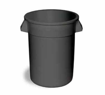 Continental 1001GY 10-gallon Commercial Trash Can - Plastic, Round, Food Rated