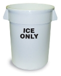 Continental 1001-ICE Round Ice Tote w/ 10-gal Capacity, White