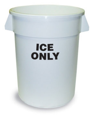 Continental Commercial 1001-ICE Round Ice Tote w/ 10-gal Capacity, White