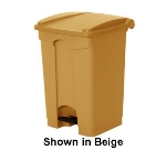 Continental 12BE 12-Gal Step On Trash Can, 16.25 x 15.75 x 23.75-in, Beige