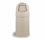 Continental 1427 BE 21-Gal Round Top Trash Can w/ Bag Holder & Tie Down, Beige