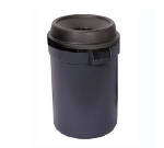 Continental 1430BK 24-gallon Commercial Trash Can - Plastic, Round, Funnel Top