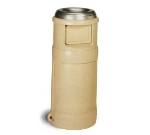 Continental 1435 BE 24-Gal Ash Top Trash Can w/ Two Door Design, Beige