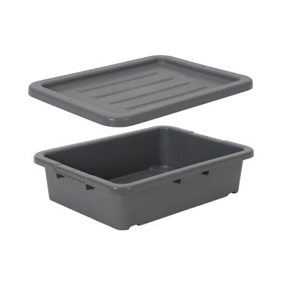 Continental 1525GY 4.62-Gal Bus Box w/ 4-sided Hand Hold, Grey
