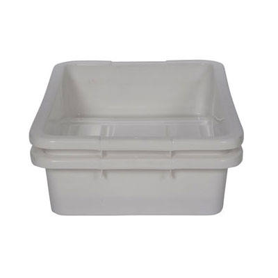 Continental 1525WH 4.62-Gal Bus Box w/ 4-sided Hand Hold, White