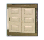 Continental Commercial 1565 BE Door Set w/ Lock & Key, Standard On Model 1585, Fits 1580, Beige