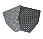 Continental 167-2 Urinal Mat, BLACK