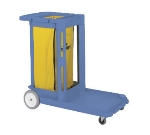 Continental Commercial 182 BL Janitorial Cart, Holds Cleaning Items & Waste Collection, Blue