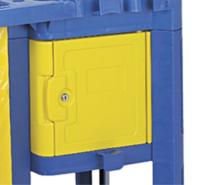 Continental Commercial 187 YW Lock Box For 184 & 186, 15 x 16 x 11-in, Yellow
