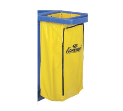 Continental 188 YW Zippered Vinyl Bag, 25-Gal Capacity, For 182 184 & 186, Yellow