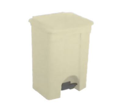 Continental 18BE 18-Gallon Step-On Receptacle, Beige