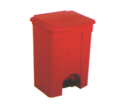 Continental 18RD 18-Gallon Step-On Receptacle, Red