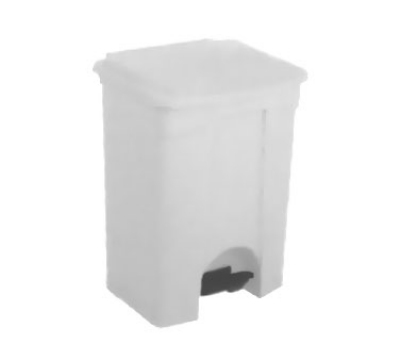 Continental 18WH 18-Gallon Step-On Receptacle, White