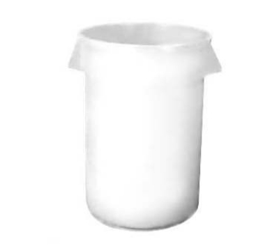 Continental Commercial 2000WH General Purpose Trash Can w/ 20-Gallon Capacity, White