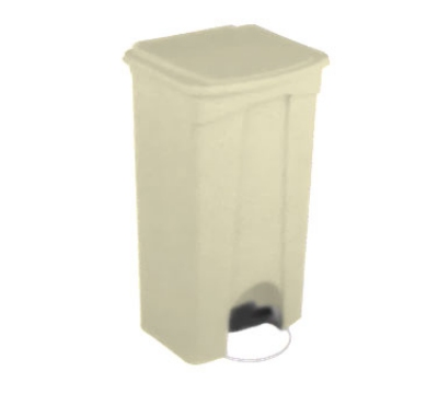Continental Commercial 23BE 23-Gallon Step-On Receptacle, Beige