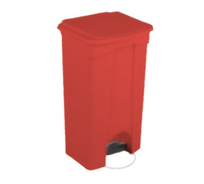 Continental Commercial 23RD 23-Gallon Step-On Receptacle, Red