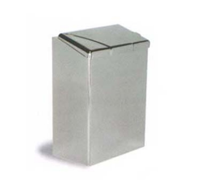 Continental Commercial 250C Wall-Mount Sanitary Napkin Receptacle, Flip-Top Lid, Chrome Finish