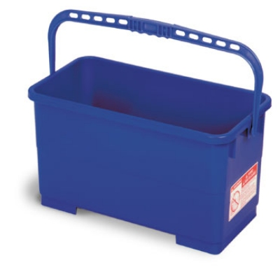 Continental 2559 6-Gal Utility & Squeegee Bucket, Oblong, Plastic Handle, Blue