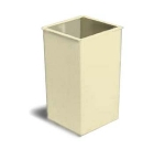Continental Commercial 25 BE 25-Gal Square Trash Can, 5735 Series, Beige