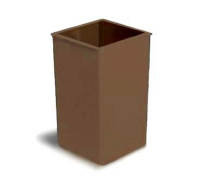 Continental 25BN 25-gallon Commercial Trash Can - Plastic, Square