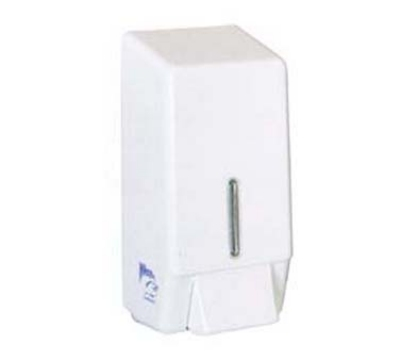 Continental Commercial 260 Wall-Mounted Liquid Soap Dispenser, 30-oz Capacity, White Plastic