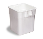Continental Commercial 2800WH Square General Purpose Trash Can w/ 32-Gallon Capacity, White