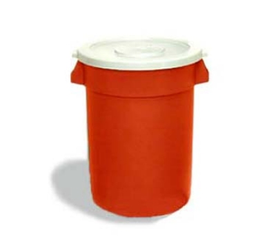 Continental 3200RD 32-gallon Commercial Trash Can - Plastic, Round, Food Rated