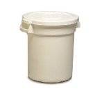 Continental 3200WH 32-gallon Commercial Trash Can - Plastic, Round, Food Rated