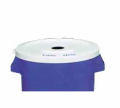 Continental Commercial 3201-1 Lid For Recycling Container 3200-1, White w/ Cans Only Imprint