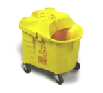 Continental Commercial 335-39 YW Institutional Mop Bucket & Wringer w/ Casters, Yellow