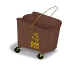 Continental 335-3 BZ 35-Qt Mop Bucket w/ Caution Symbol, Splashguard, Bronze