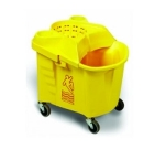 Continental 335-9 YW Institutional Mop Bucket & Wringer, Yellow