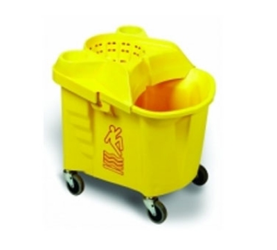 Continental Commercial 335-9 YW Institutional Mop Bucket & Wringer, Yellow