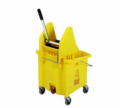 Continental 336-37 YW 35-Qt Mop Bucket & SW7 Squeeze Wringer Combination, Yellow