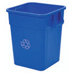 Continental 4000-1 Square Recycling Container w/ 48-Gallon Capacity, Blue