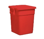 Continental 4000RD 48-gallon Commercial Trash Can - Plastic, Square, Built-In Handles