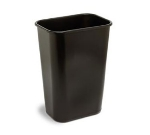 Continental Commercial 4114BN Rectangular Wastebasket w/ 41.25-qt Capacity, Brown