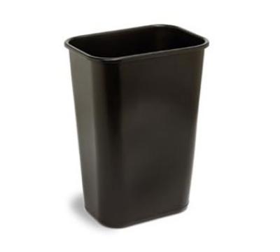 Continental Commercial 4114BN Rectangular Wastebasket w/ 41.25